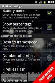 Fireflies Live Wallpaper Free Screenshot 8