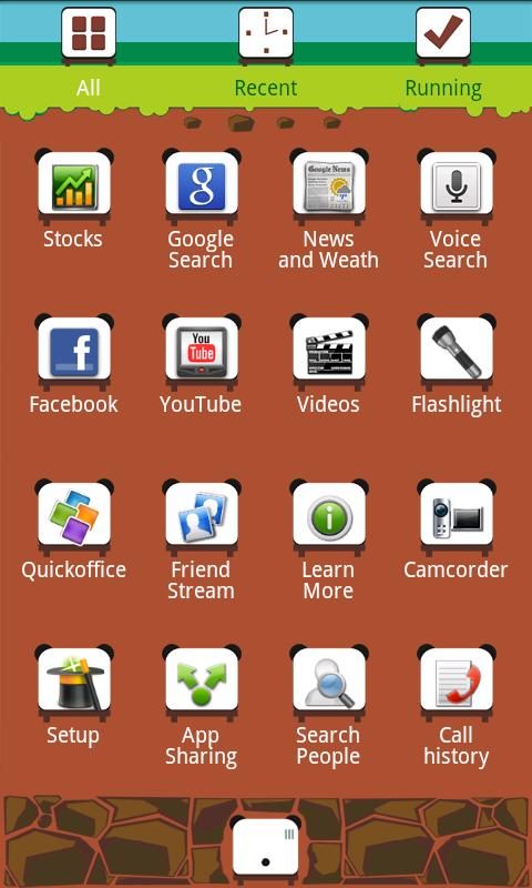 K-PANDA Theme GO Launcher EX - screenshot