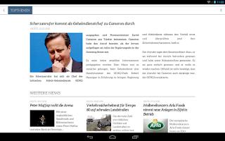 Screenshot of Volksfreund Kompakt