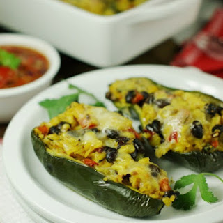 Southwestern Stuffed Poblano Peppers.