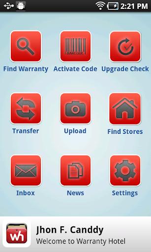 Warranty Hotel App