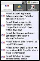 Screenshot of Nepali News App