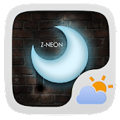 Z-Neon Free Theme GO Weather
