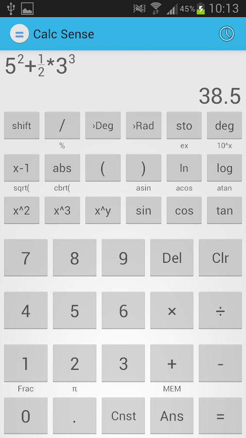 Calc Sense - screenshot