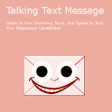 Pink Talking Text Messages SMS logo
