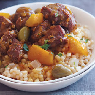 Lamb Tagine with Olives, Preserved Lemon and Couscous.