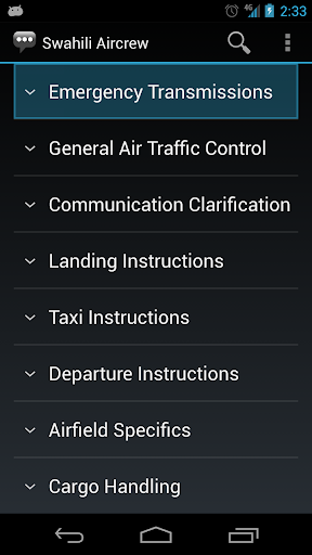 Swahili Aircrew Phrases