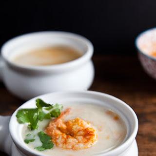 Creamy Cauliflower Soup with Piri Piri Shrimp