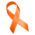 Orange Awareness Ribbon Clock logo