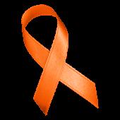 Orange Awareness Ribbon Clock