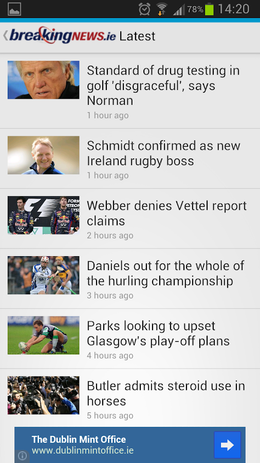 BreakingNews.ie - screenshot