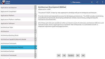 Screenshot of TOGAF Glossary