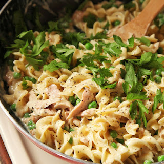 Easy One-Pot, No-Knife, Lighter Tuna Noodle Casserole