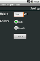 Screenshot of Simple Weight Control Pro