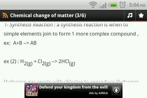 Chemical Change of Matter - screenshot