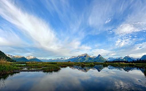 tide-pools-Valdez-Alaska - Cloud sprays and tide pools outside of Valdez, Alaska.