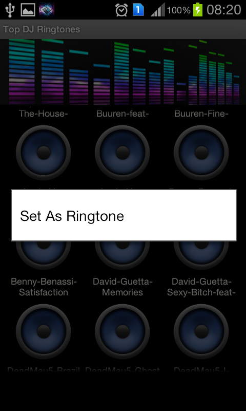 Latest DJ Ringtones (Tracks) - screenshot
