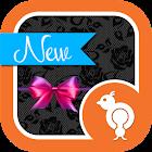 Black Lace GO SMS Theme icon
