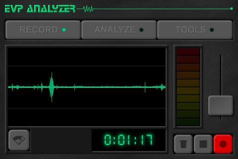 Ghost EVP Analyzer - screenshot