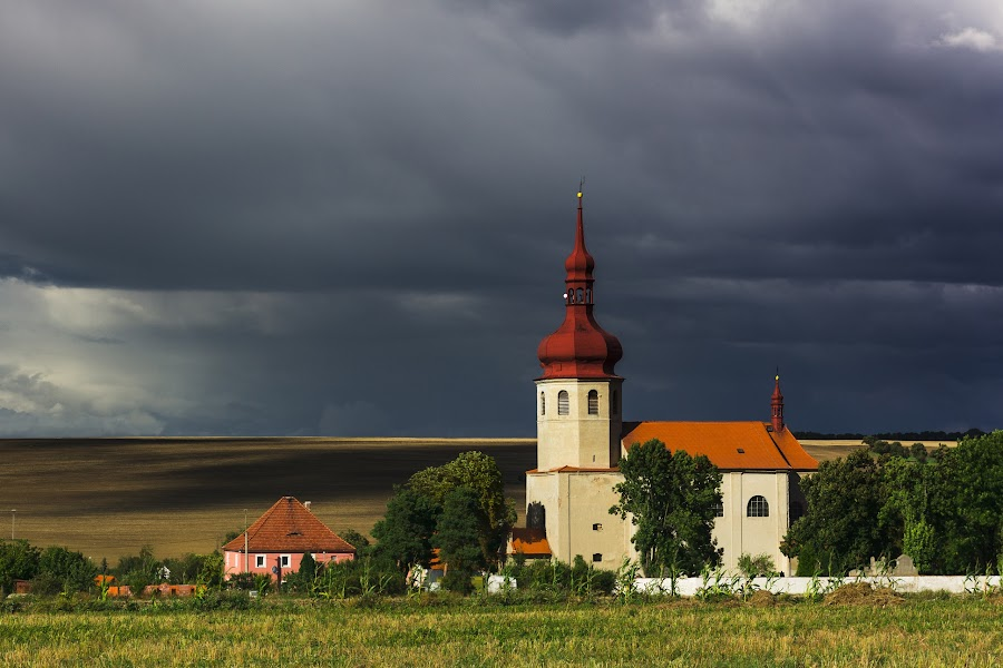 Church in Libedice Village by Pavel Kinšt - Buildings & Architecture Public & Historical ( countryside, church, village, kostel )