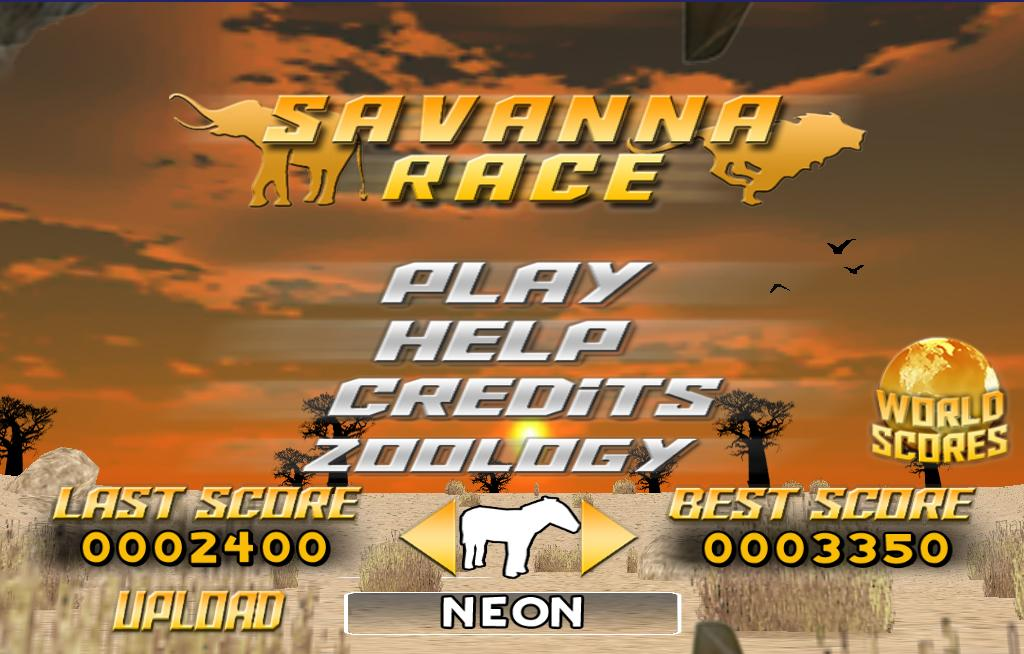 Savanna Race- screenshot