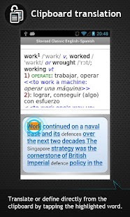 Spanish<-> English  dictionary - screenshot thumbnail