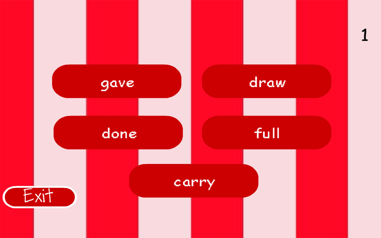 Word Recognition Level 3- screenshot