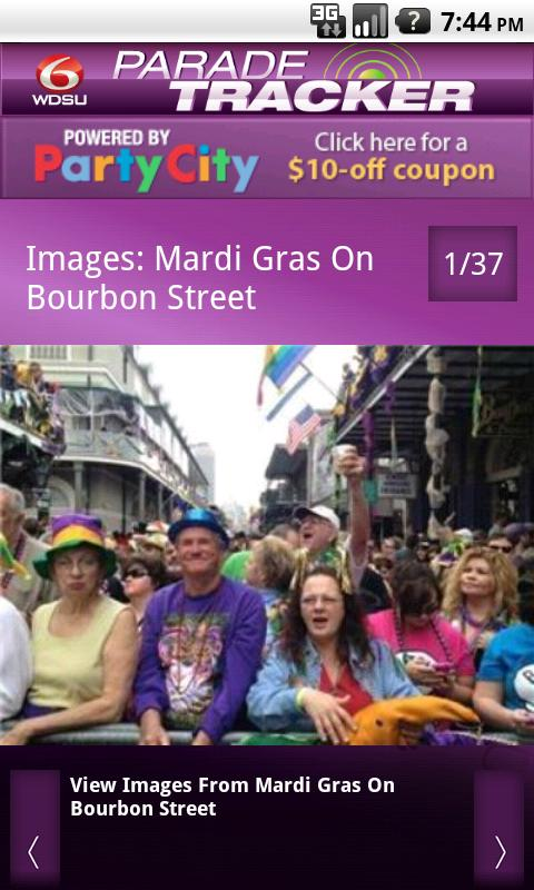 WDSU Parade Tracker- screenshot