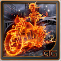 Skeleton Rider In Fire LWP icon