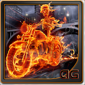 Skeleton Rider In Fire LWP