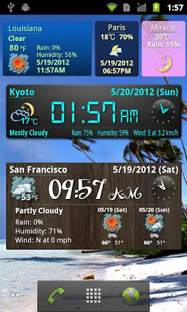 World Weather Clock Widget 6.047 screenshot 494252