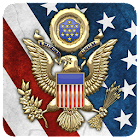 3D USA Coat of Arms & Flag LWP icon