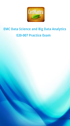 EMC E20-007 Data Science Exam