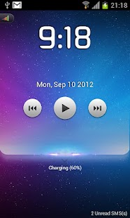 Starry lock screen-MagicLocker - screenshot thumbnail
