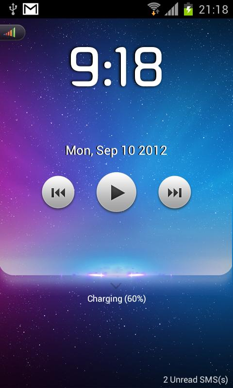 Starry lock screen-MagicLocker- screenshot