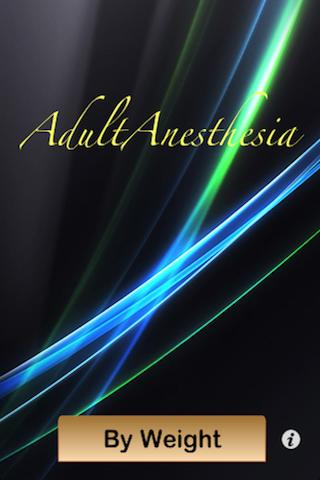 Adult Anesthesia