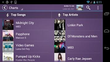 Screenshot of Fusion Music Player
