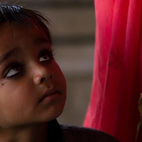 Hope by Romney Olsen - Babies & Children Children Candids ( child, looking, india, holi, up, hope, eyes )