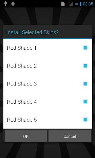 Red Skins for iSense Music