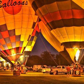 Night Light by Martin Wheeler - Transportation Other ( balloonglow, hotairballoon, night, glow, balloon )