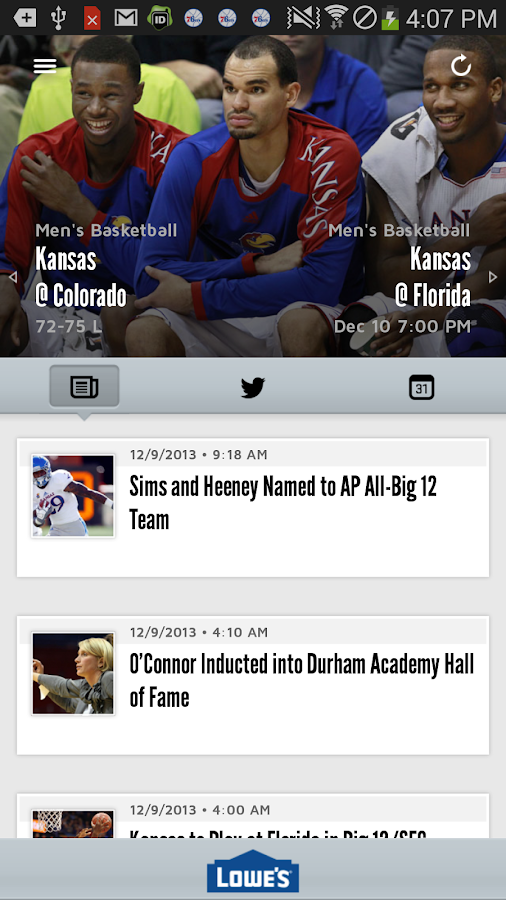 Kansas Jayhawks- screenshot