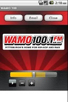 Screenshot of WAMO 100