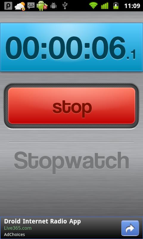 Stopwatch Demo- screenshot