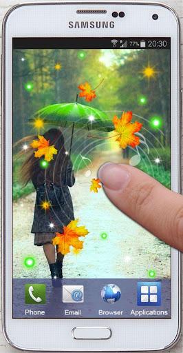 玩個人化App Autumn Rain live wallpaper免費 APP試玩