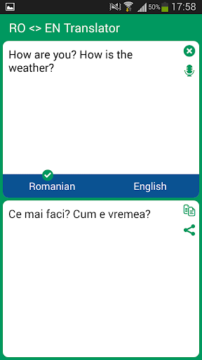 Romanian English Translator