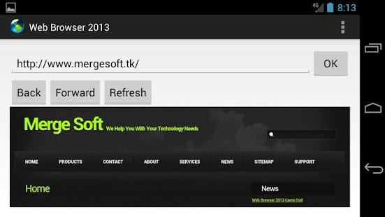Web Browser 2013 Lite - screenshot thumbnail