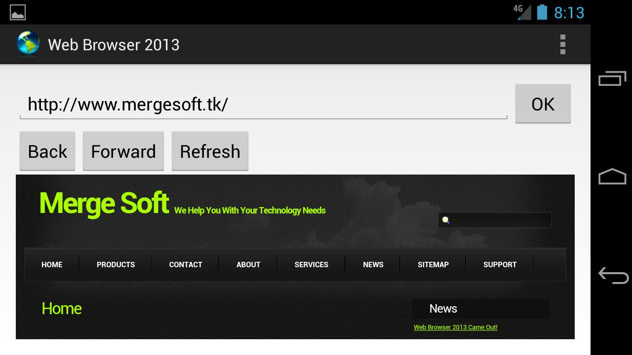 Web Browser 2013 Lite - screenshot