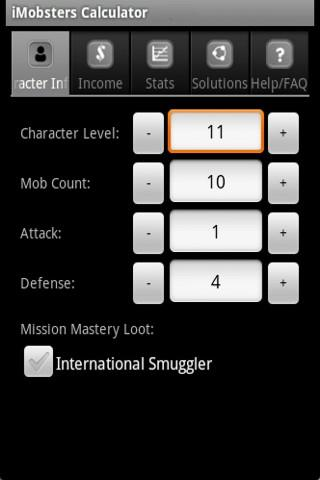 iMobsters Calculator - screenshot
