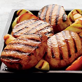 Cider-Brined Pork Chops with Grilled Apples.