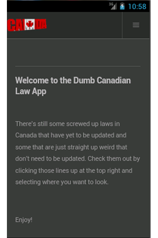 Dumb Canadian Laws